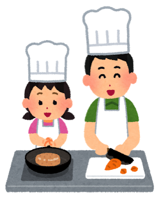 Cooking oyako man girl