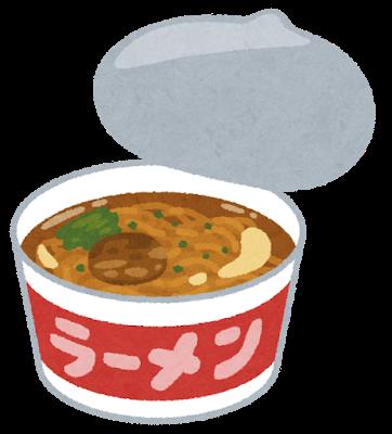 Food cup ramen syouyu