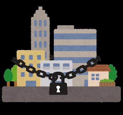 Virus lockdown city