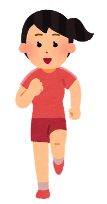 Sports run syoumen woman