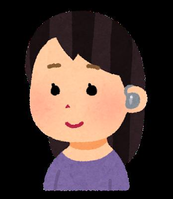 Music ear monitor woman