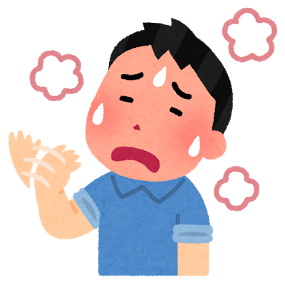 Sick atsui man