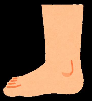 Body foot side uchigawa