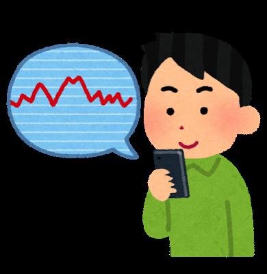 Kabu chart smartphone man