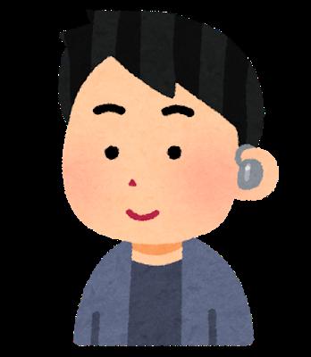 Music ear monitor man