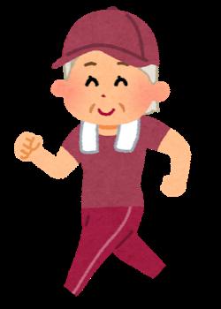 Sport walking oldwoman cap